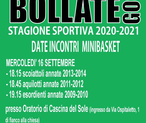Ecco le date e gli orari delle riunioni con i genitori delle squadre MINIBASKET (annate dal 2009 al 2014).https://www.facebook.com/pallacanestrobollate/